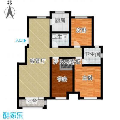 亚泰澜公馆126.00㎡洋房YA7户型3室2厅2卫
