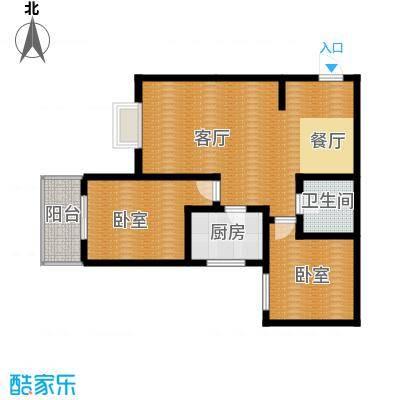 达成馨苑99.46㎡2号楼B户型10室