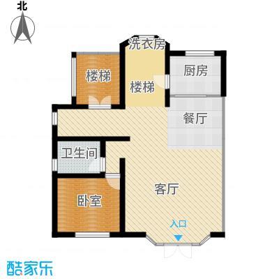 团泊湖庭院92.23㎡户型10室