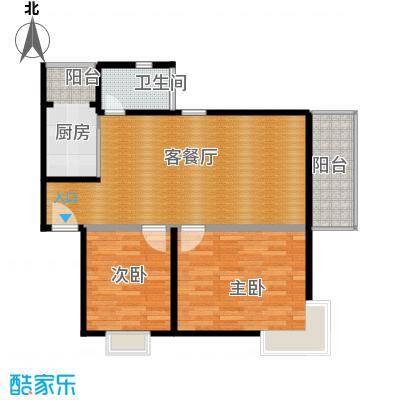 鼎秀风林69.06㎡户型2室1厅1卫1厨