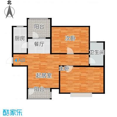 金厦龙第世家89.77㎡户型2室2厅1卫