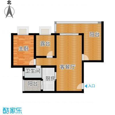 鼎秀风林83.20㎡E户型1室1厅1卫1厨