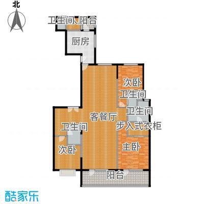 富力十号207.83㎡A1栋二单元01室18层平面图户型10室