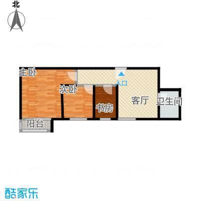 达成馨苑66.96㎡1号楼D户型10室
