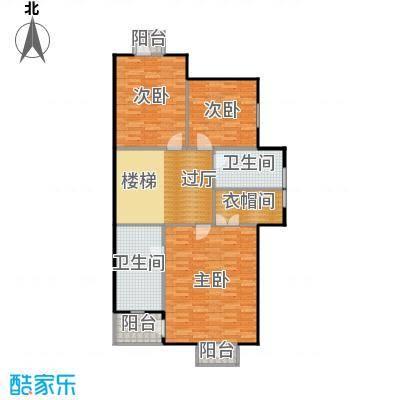 贻成水木清华107.59㎡别墅三期7H-1-01二层户型10室