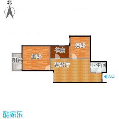 达成馨苑83.60㎡1号楼E户型10室