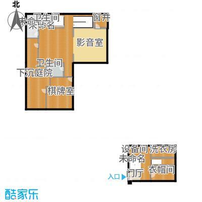 富力十号207.40㎡Bl-01合院地下层平面图户型10室