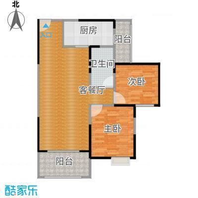 蒂梵尼TOWN80.00㎡二期7、8号楼F4户型2室2厅1卫