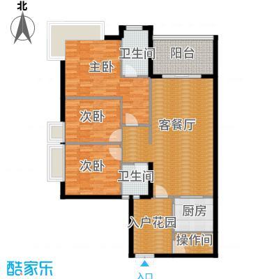 万科悦峰109.00㎡6/7号楼A户型3室1厅2卫1厨