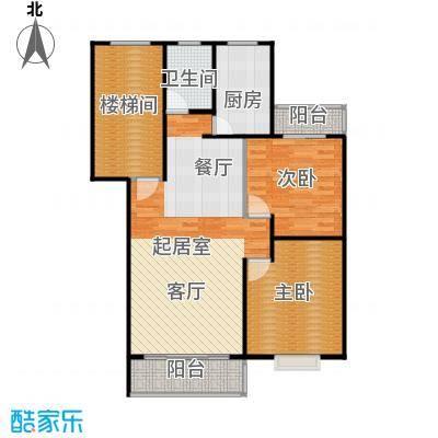 鼎秀风林92.66㎡户型2室1卫1厨