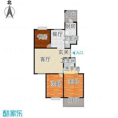 千泓花苑115.97㎡图为户型3室2卫1厨