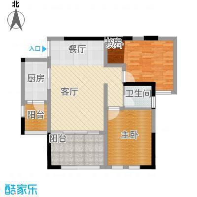 晋愉天意70.54㎡B户型2室1厅1卫1厨