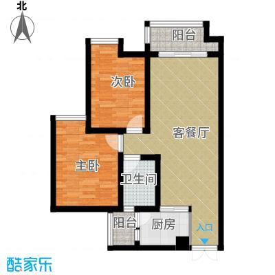 华宇春江花月63.64㎡-户型2室1厅1卫1厨