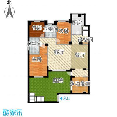 万科锦庐145.00㎡情景花园洋房首层户型3室2厅2卫
