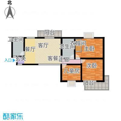 五龙汤花园124.04㎡A、C、D栋楼A户型3室1厅2卫