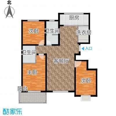 金潞苑131.35㎡户型3室1厅2卫1厨