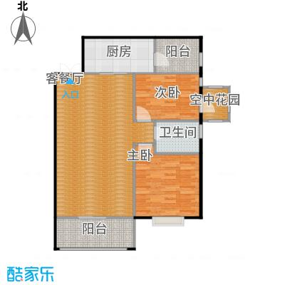 九鼎名都77.42㎡二期G1栋标准层1楼1/号2-32楼1/号B户型2室1厅1卫1厨