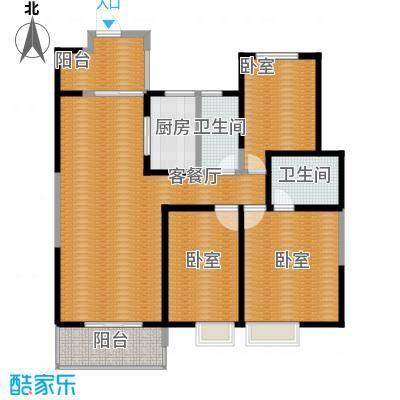 曲江紫汀苑125.00㎡2号楼C户型10室