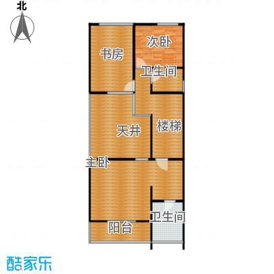 檀香海110.25㎡二层平面图户型10室