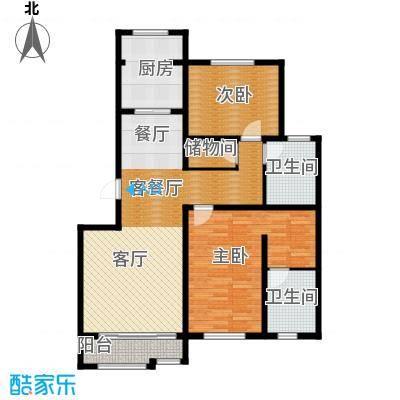 荣馨园123.71㎡C2户型2室2厅2卫