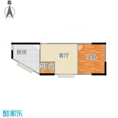 融汇新时代43.19㎡房型户型1室1厅1卫1厨