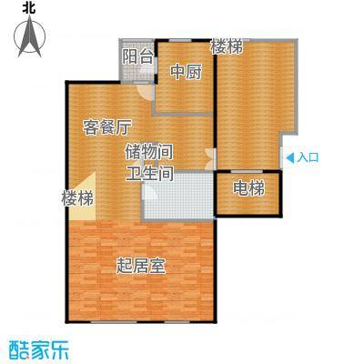弘泽制造127.63㎡洋房F1-E户型10室