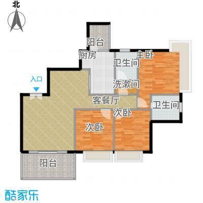 仁和春天国际花园127.86㎡8号楼B1户型3室2厅2卫