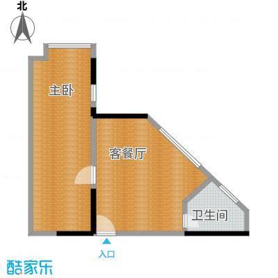 融汇新时代43.19㎡房型户型1室1厅1卫