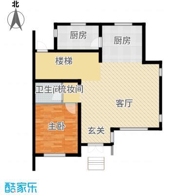 团泊湖庭院81.67㎡户型10室