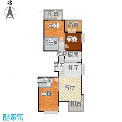 河东万达广场136.44㎡E2户型10室