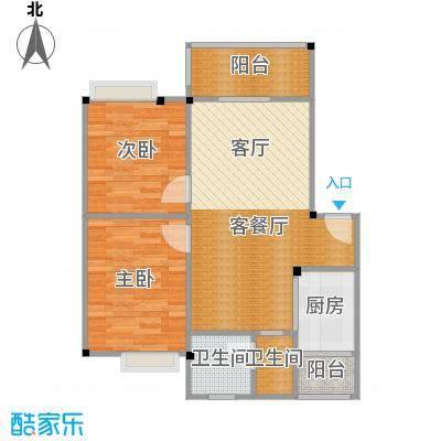 鼎秀风林63.87㎡A户型2室1厅2卫1厨
