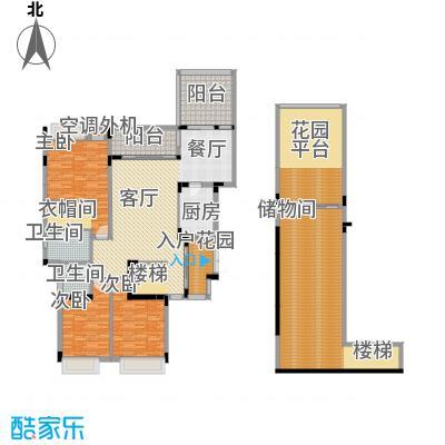 御城华府146.66㎡揽胜13-17号楼二层跃上户型3室1厅2卫1厨