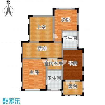 康城暖山110.46㎡图为图为B3F-1二层户型3室2卫
