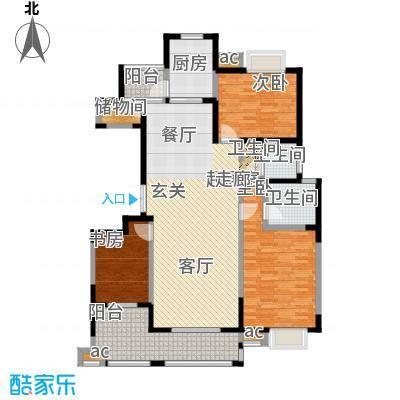 天朗西子湖130.85㎡天朗西子湖户型图三室两厅两卫(11/20张)户型3室2厅2卫