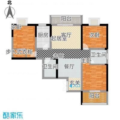 五龙汤花园121.73㎡B栋F户型3室2卫1厨