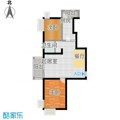 河东万达广场105.64㎡C2户型2室2厅1卫