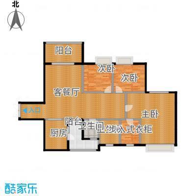 天府世家138.00㎡B4户型3室1厅2卫1厨