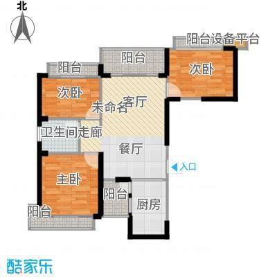 盛世一品89.74㎡3号楼D1户型3室1卫1厨