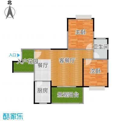 楠香山88.98㎡C3型户型2室1厅1卫1厨