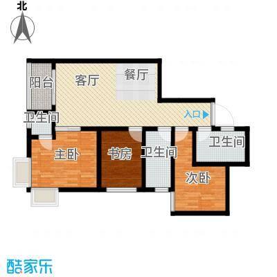 瑞丰新欣城106.32㎡9号楼B户型10室