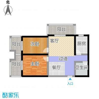 宝枫佳苑103.45㎡C1E2户型2室1卫1厨
