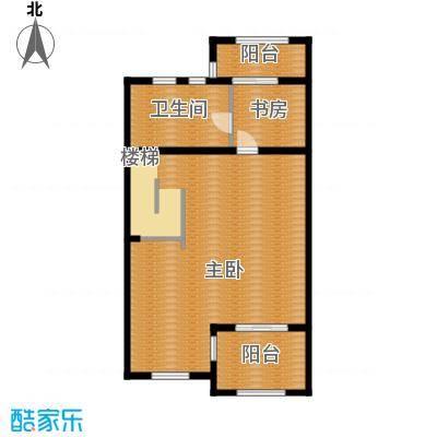 绿地诺丁山130.00㎡n1东-3F户型2室1卫