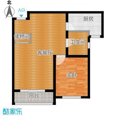 荣馨园80.36㎡D4户型1室2厅1卫