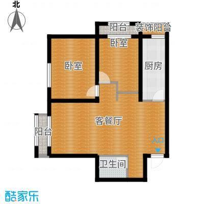 御溪望城80.48㎡3-25-E3户型2室2厅1卫