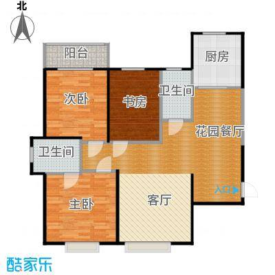 西港碧水湾125.09㎡A户型3室2厅2卫