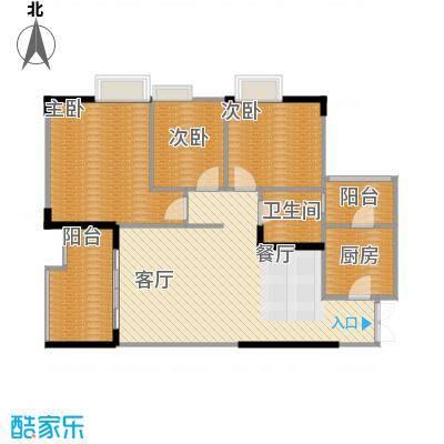 融汇温泉城83.28㎡户型3室1厅1卫1厨