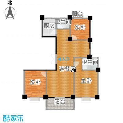 世纪花园127.00㎡户型3室1厅2卫1厨