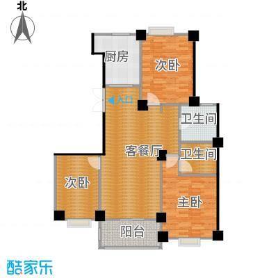 世纪花园126.00㎡户型3室1厅2卫1厨