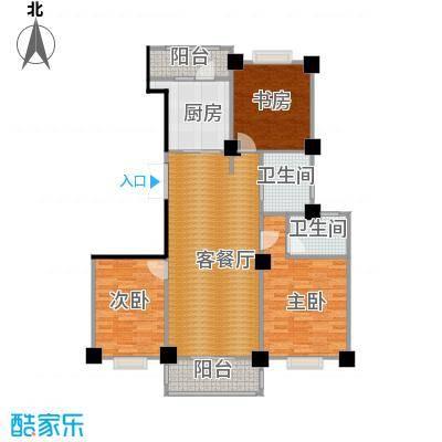 世纪花园123.00㎡户型3室1厅2卫1厨