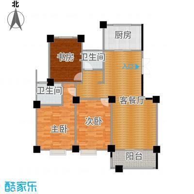 世纪花园129.00㎡户型3室1厅2卫1厨